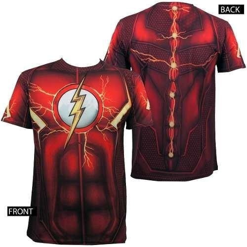 Flash Dc Comics Playera Sublimada Disfraz Envío Express