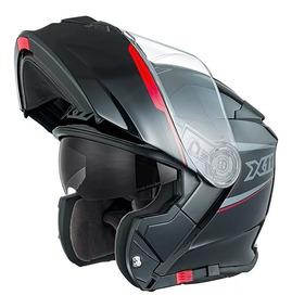Capacete Motociclista X11 Turner Articulado C/óculos Interno