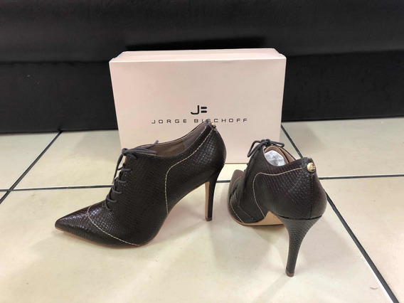 Ankle Boot Jorge Bischoff Em Couro Marrom Escuro - 37