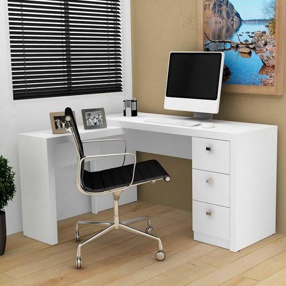 Mesa Para Computador Com 3 Gavetas Me4101 - Tecno Mobili