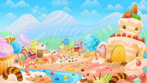 Painel De Festa Mundo Doce Candy