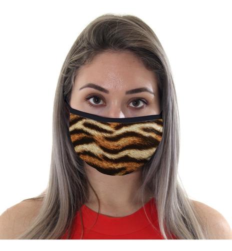 Mascara De Protecao Animal Print Tigre Adulto