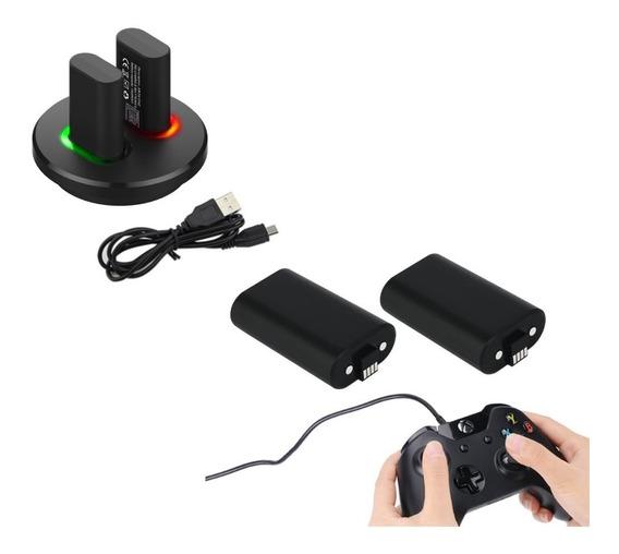 Bateria Xbox One Kit Completo Base Dupla + 4 Baterias + Cabo