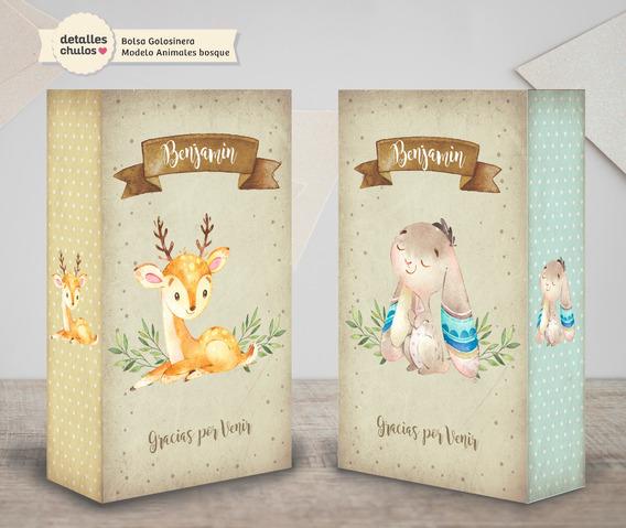 Bolsitas Golosineras Personalizadas Animales Bosque Candy