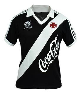 Camisa Retrô Vasco Da Gama 1988 Preta
