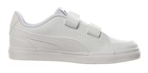Tenis Puma Escolar Niño Blanco Court Point 36294902