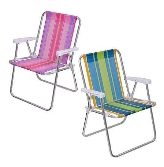 Cadeira De Praia / Piscina Alta De Alumínio Mor