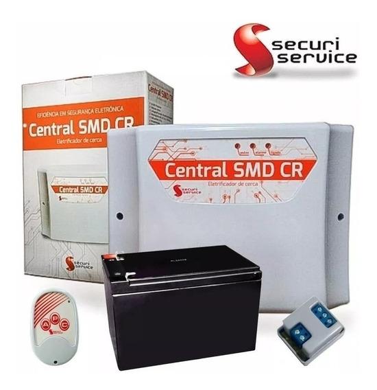 Kit Cerca Elétrica Gcp Securi C/ Setor De Alarme + Bateria