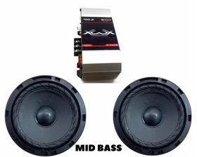 Kit 1 Par 6 Pol Mid Bass Prime Audio + Modulo 100 Watts
