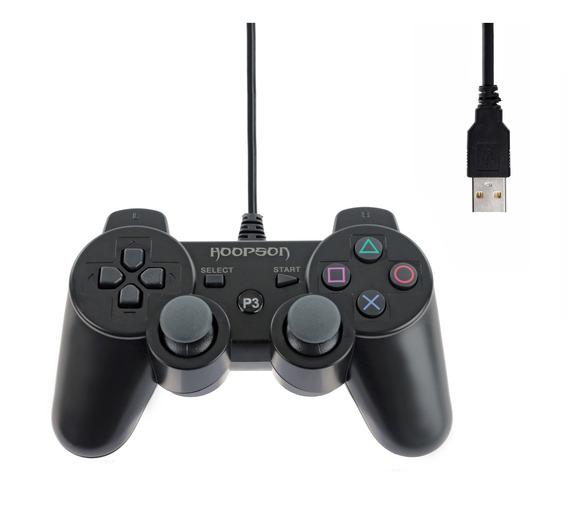 Controle Joystick Hoopson Ps3 Pc Dual Shock Vg-013 Usb