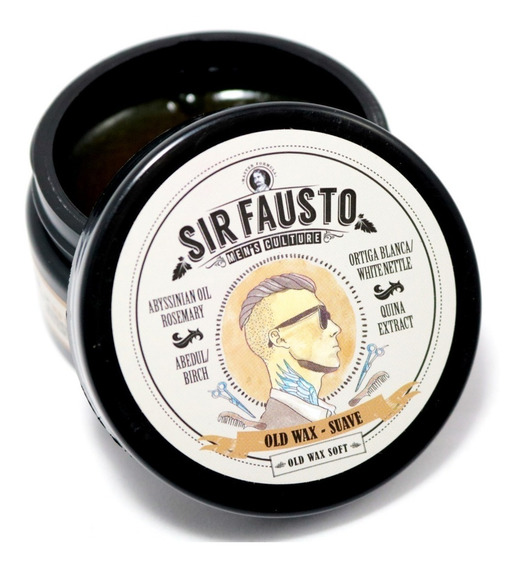 Cera Pomada Sir Fausto Old Wax Suave Para Pelo X100ml