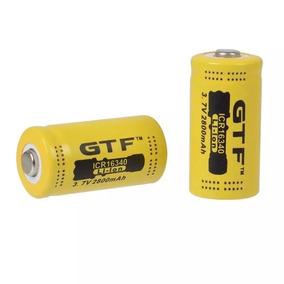 2 Baterias Cr123a 2800mah 3.7v Gtf - Lanternas/laser Airsoft