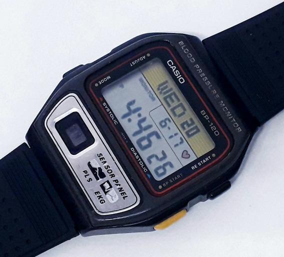 Relógio Casio Bp-120 Monitor Cardíaco Década De 80 Raridade!