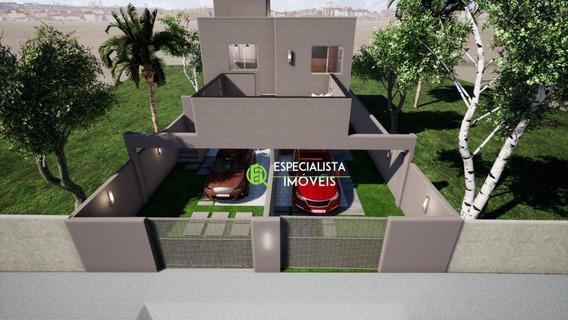 Casa Com 2 Dormitórios À Venda, 55 M² Por R$ 205.000 - Santa Clara Ii - Vespasiano/mg - Ca0140