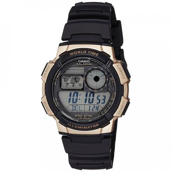 Relógio Casio Masculino World Time Digital Ae1000w1a3vdf