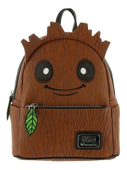 Mochila Escolar Mini Loungefly Groot Marvel