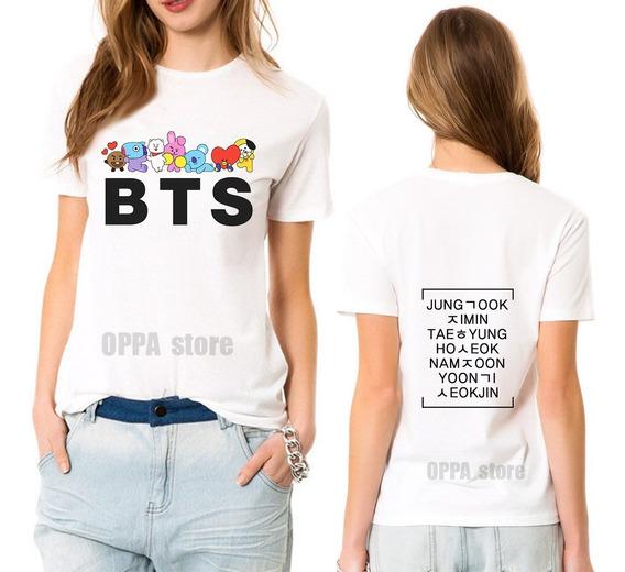 Bts Remera Army K-pop Unisex Hombre Mujer Niños K-pop