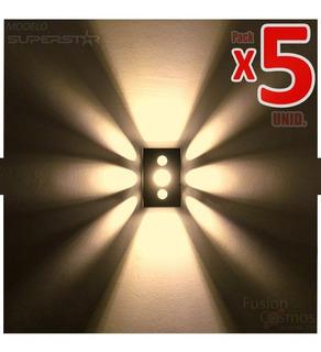 Lampara Exterior Farol Efecto Superbrillante Apto Led X5unid