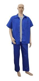 Uniforme Calça + Jaleco + Camisa Para Trabalho Profissional