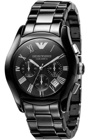 Relógio Emporio Armani Preto Cerâmica Original C/nf Ar1400