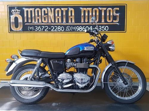 Triumph Bonneville T100  Azul - 2015  - Km 20.000 947234344