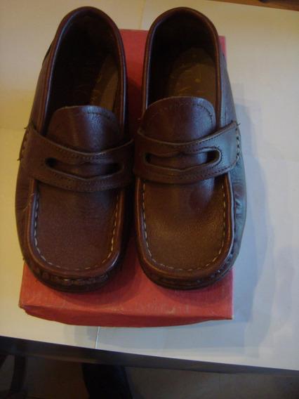 Zapatos Nene 25 Marca Maca Mar Marrón Puro Cuero