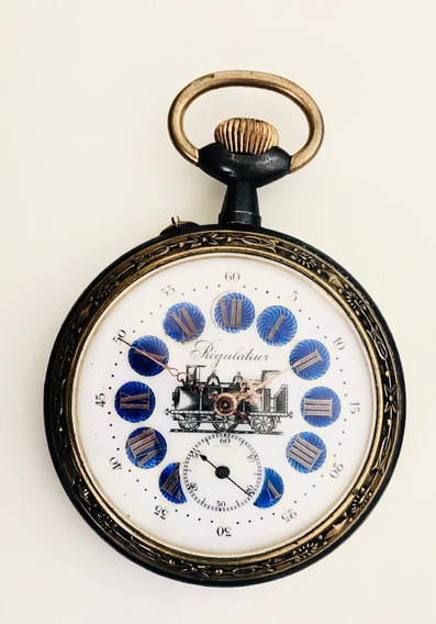 Relógio De Bolso Grande Regulator Locomotiva, Golias Cebolão