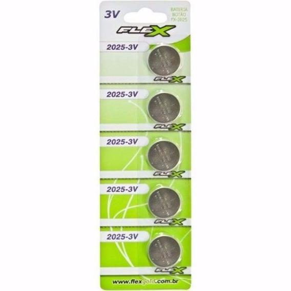 Kit 50 Un Bateria Lithium Cr2025 3v Flex Cartela Placa Mãe