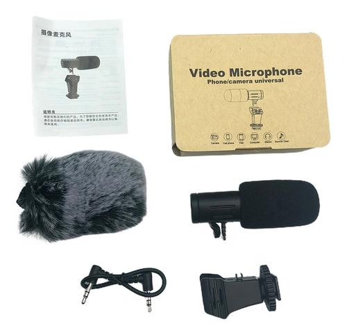 Microfone Condensador Microfone Direcional Estéreo Externo