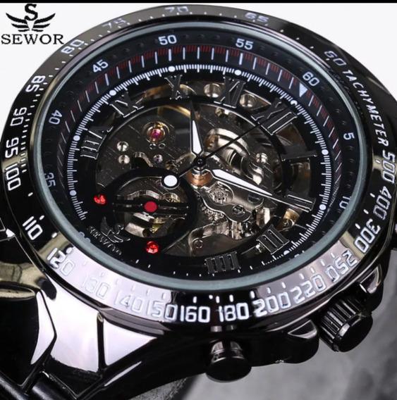 Relógio Sewor Preto Aço Inoxidável