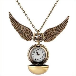 Collar + Reloj Cadena Quidditch Ball Bronce Harry Potter
