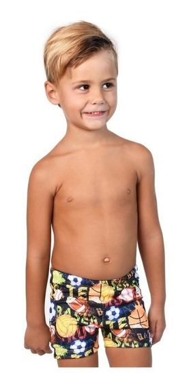 Malla Natacion Infantil Quickly Short Niño Pileta Cuotas
