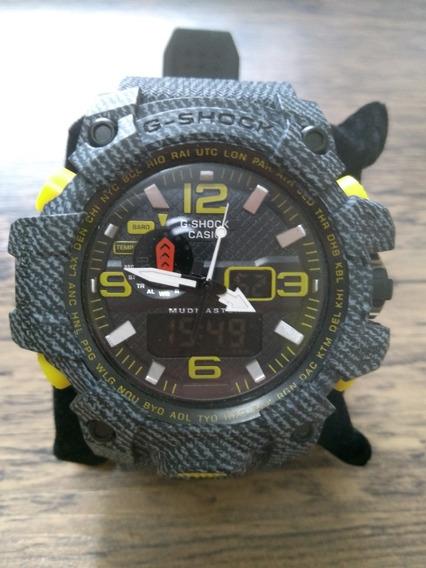 Relógio Casio G-shock Cinza Jeans.