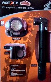 Acessórios Para Bicicleta Luz Led Enchedor De Pneu Promoção