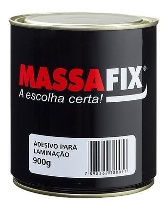 Adesivo Laminação(resina) 900g Massafix C/1 Catal. - Kit C/4