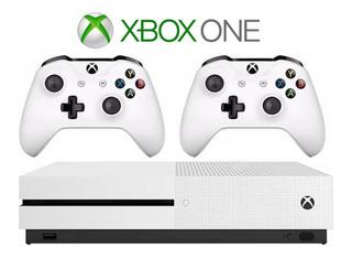 Xbox One S 1tb 4k Con Dos Mandos Inalambricos.