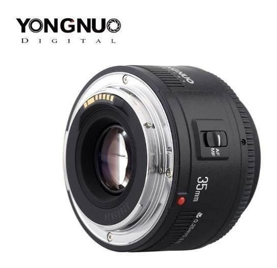 Objetiva 35mm F2.0 Yongnuo Para Video Filmes Fotos Lente Top