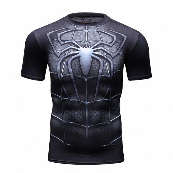Playera Spiderman Spider Crossfit Marvel Compression Licra