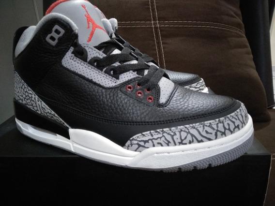Tenis Air Jordan 3 Black Cement