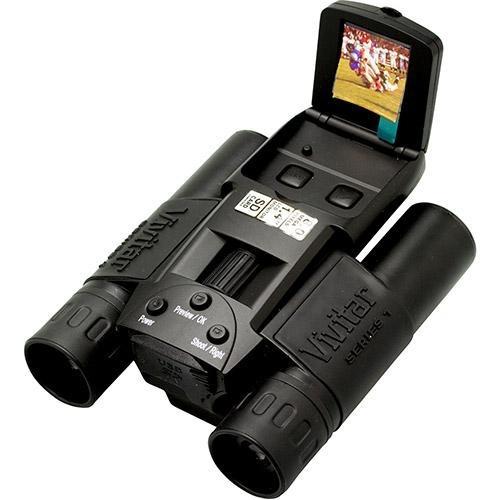 Binóculo Digicam Vivitar Cv1225v 12x 25mm Câmera 8mp Sd Lcd