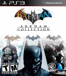 Batman Arkham Origins + Asylum + City Ps3 Digital Gcp