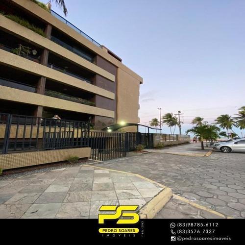 Apartamento Com 3 Dormitórios À Venda, 100 M² Por R$ 1.400.000 - Cabo Branco - João Pessoa/pb - Ap3956