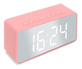Radio Relogio Despertador Digital Sd Caixinha Som Bluetooth
