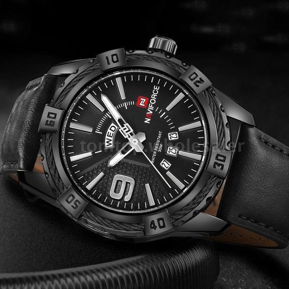 Relógio Quartz Masculino Luxo 100% Original Marca Naviforce