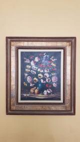 Lindo Quadro Vaso De Flores De Ph. J. Xénos