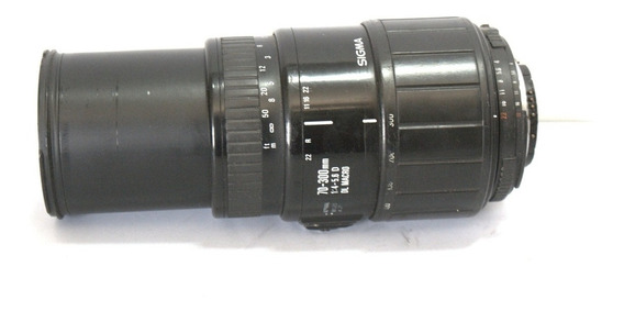 Lente Sigma Macro 70-300mm Sucata Com Defeito Retirada Peças