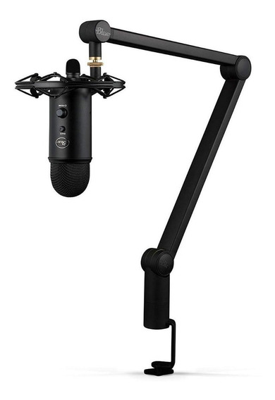 Microfone Blue Yeticaster cardióide, bidirecional, omnidirecional preto