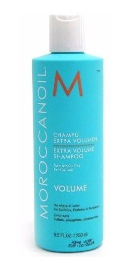 Moroccanoil Shampoo Cabello Fino Extra Volumen X 250 Argan