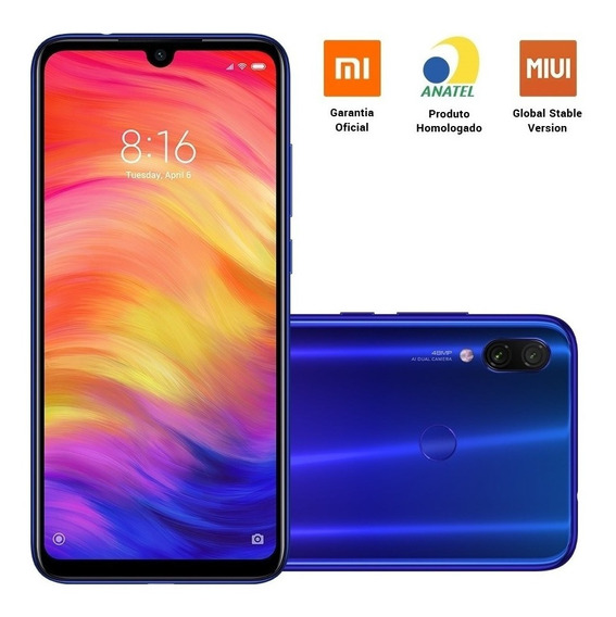 Xiaomi Redmi Note 7 Tela 6.3 4gb/64gb Dual Sim Global Anatel
