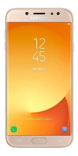 Imagem 1 de 4 de Celular Samsung Galaxy J7 Pro 64gb Dourado Muito Bom Usado